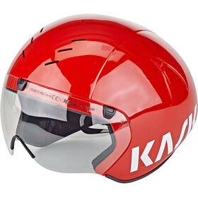 Kask Bambino Pro Casque visière incluse, red